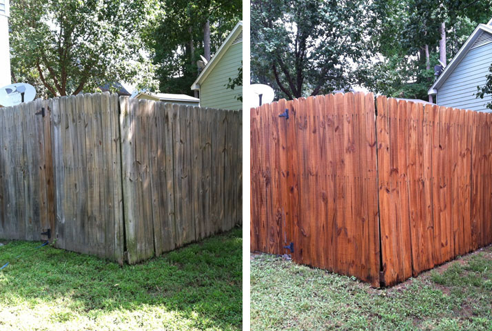 Fences can easily look grey without cleaning.