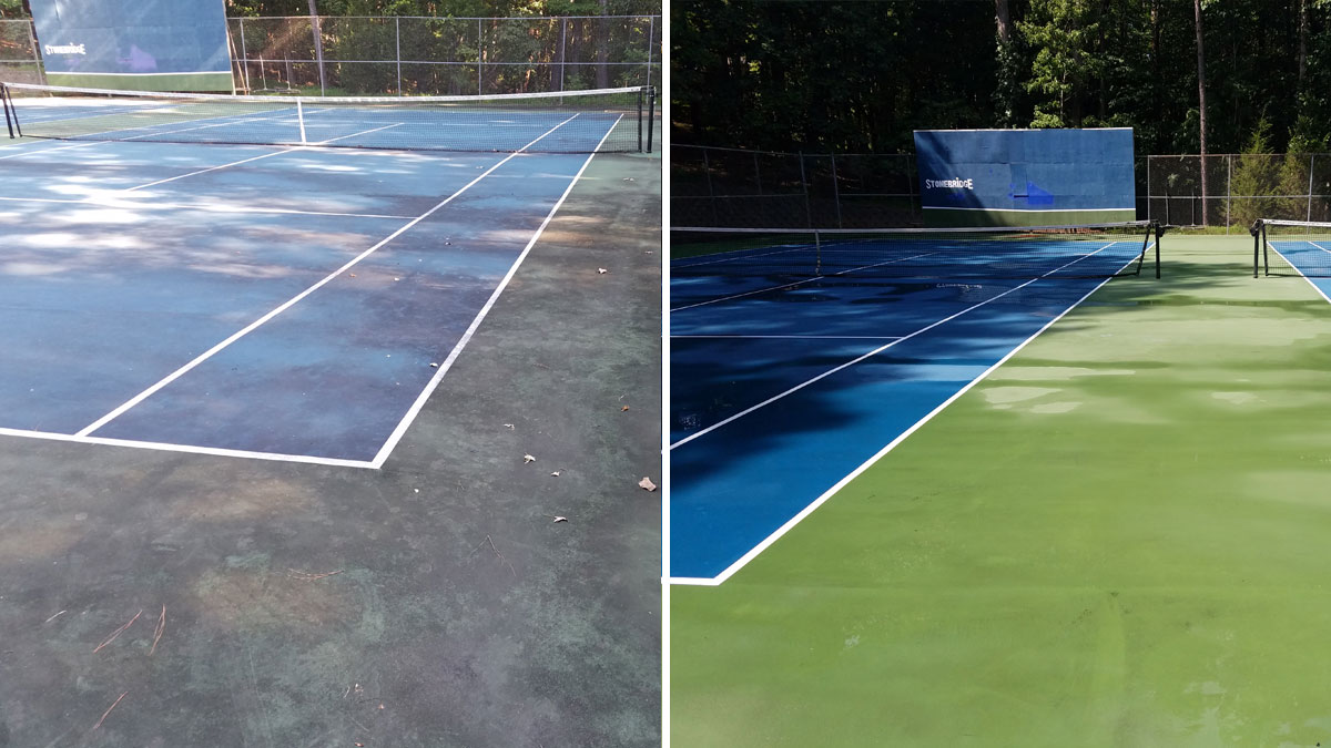 Pressure Washing Tennis Courts