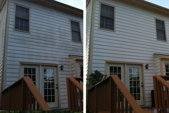 Cleaning siding is no problem for us.