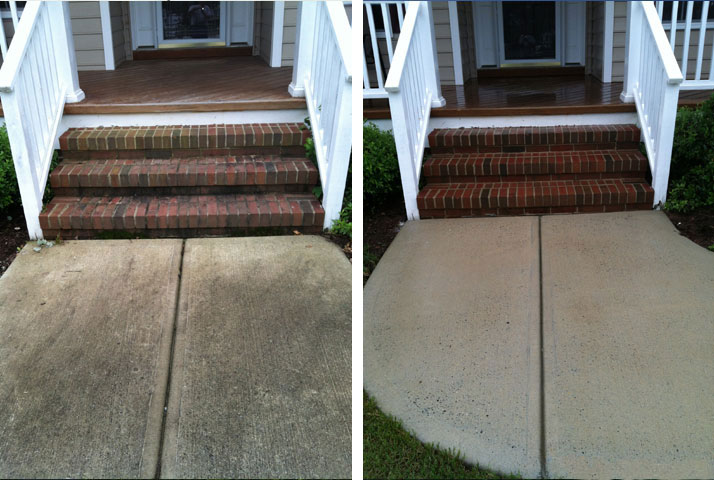 Brickwork is no problem for Blue Wave Pressure Washing.