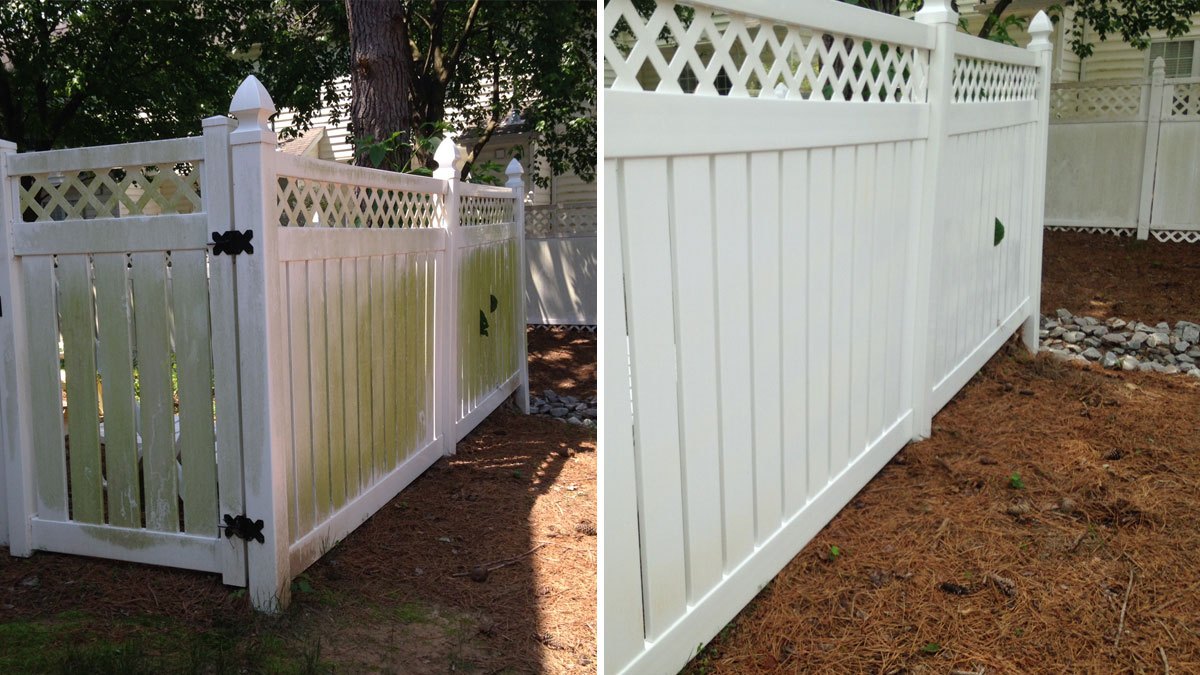 Residential Fencing Pressure Washing